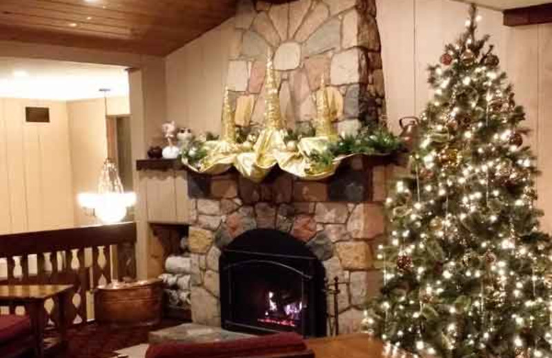Christmas decor at Cragun's Resort and Hotel on Gull Lake.