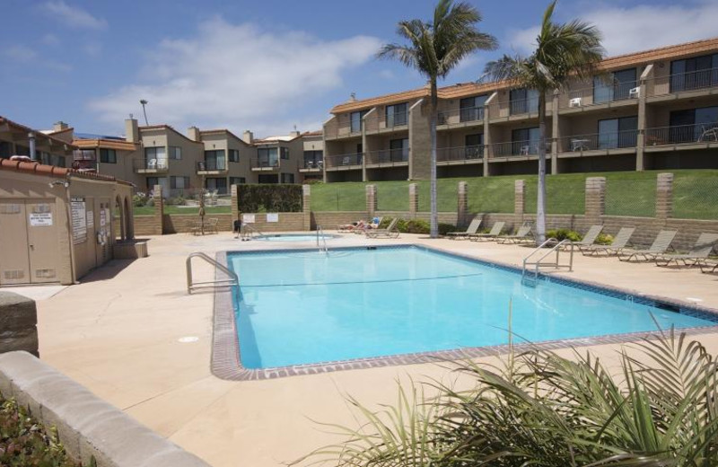 Rental outdoor pool at Coastal Vacation Rentals.