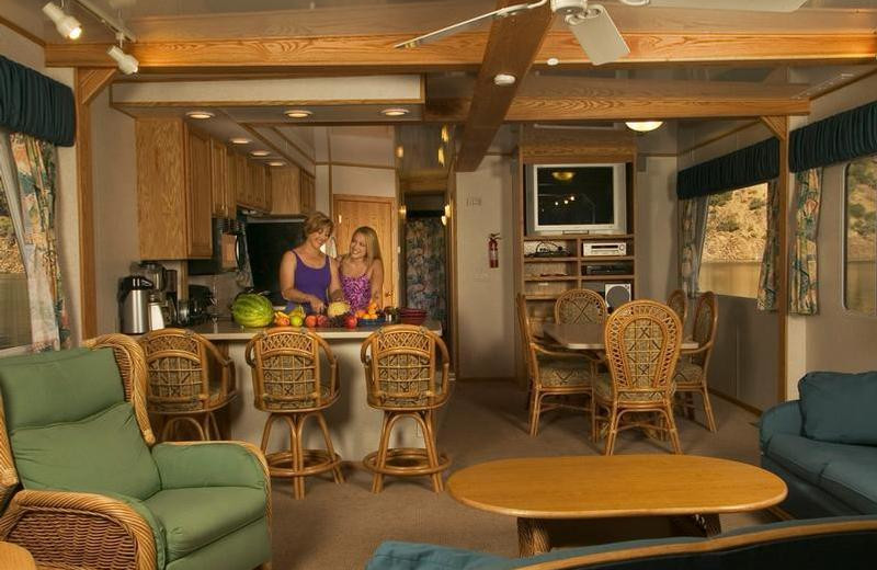 The 70' Titanium interior houseboat at Antelope Point.