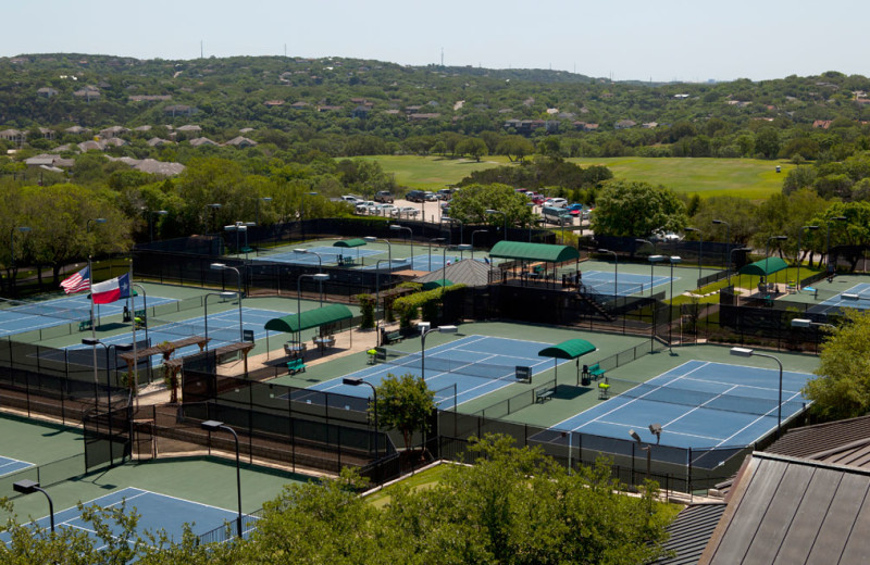 Tennis courts at Omni Barton Creek Resort & Spa.