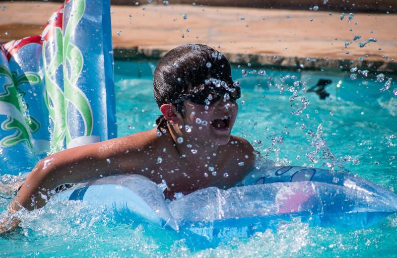 Outdoor pool at Elkhorn Ranch.