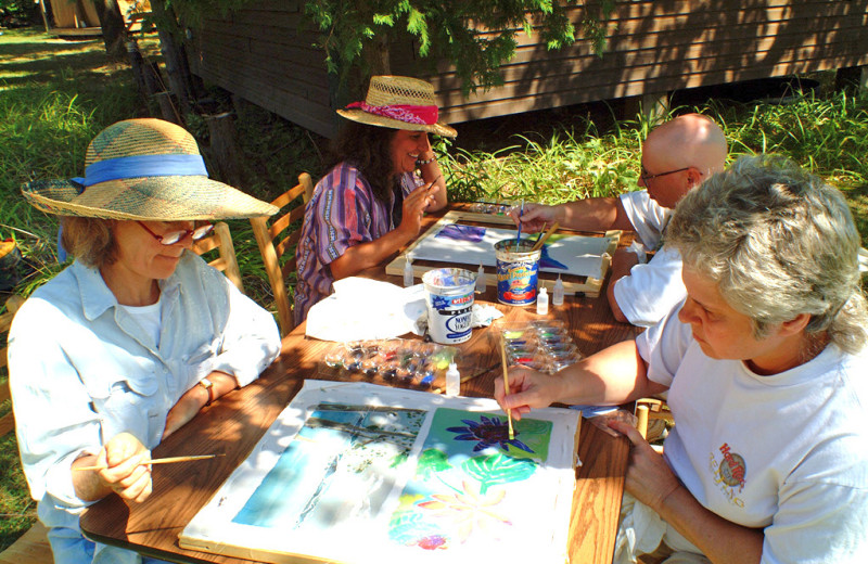 Fine art classes are included during family camp programs.