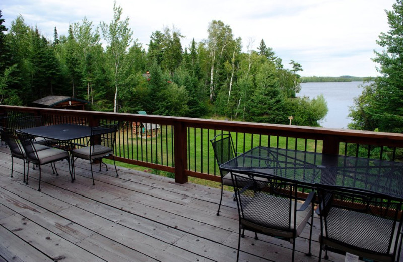Deck view at Hungry Jack Lodge.