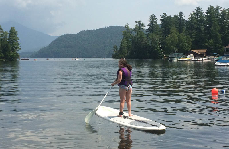 Paddle board at The Whiteface Lodge.