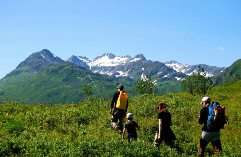 Hiking at AlpenView Wilderness Lodge.