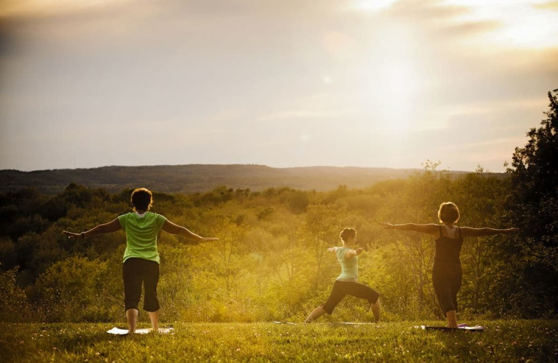 Yoga class at Crystal Mountain Resort and Spa.