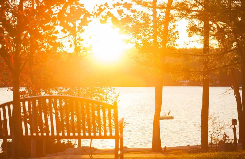 Lake view at Woodloch Resort.