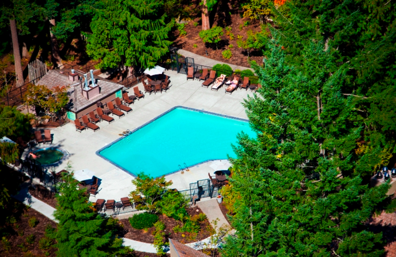 Outdoor pool at The Resort at the Mountain.