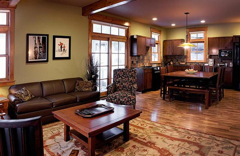 Vacation rental interior at Crystal Mountain Resort and Spa.