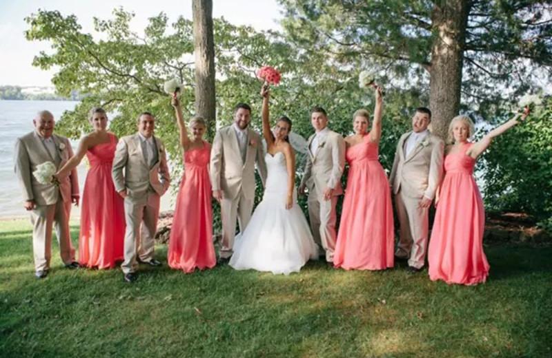 Wedding party at Mallard Point Resort.