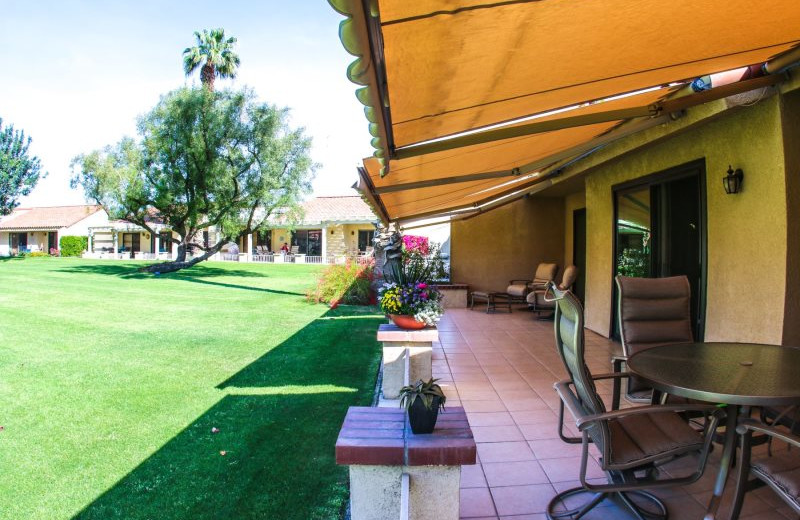 Rental patio at Country Club and Resort Rentals.