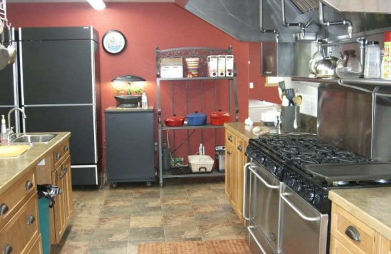 Kitchen at Northwoods Lodge.