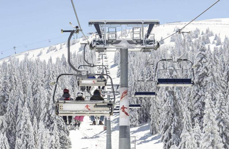 Skiing at Summit Mountain Rentals.