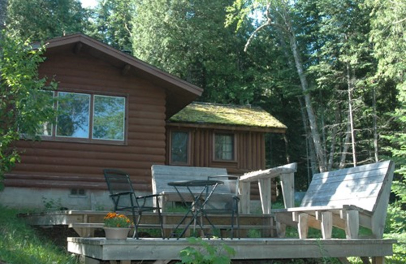 Exterior cabin view at Heston's Lodge.