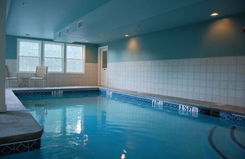Indoor pool at Sea Rose Suites.