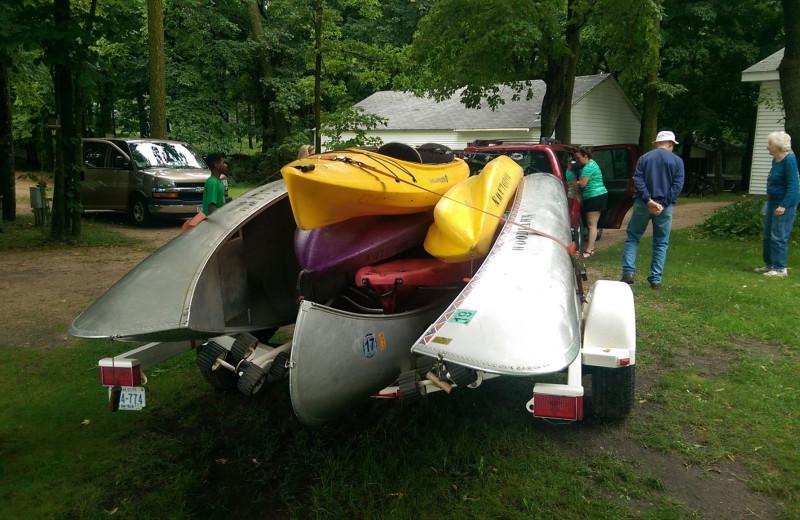 Canoes at Woodlawn Resort.