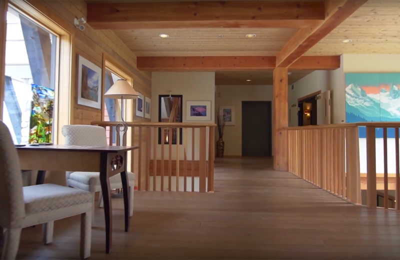 Interior at Bugaboos Lodge.