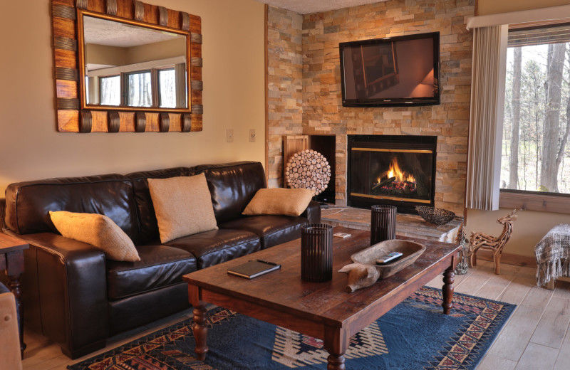 Guest living room at Trout Creek Vacation Condominiums.