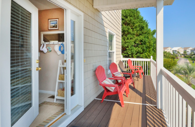 Rental deck at Williamson Realty Vacations.