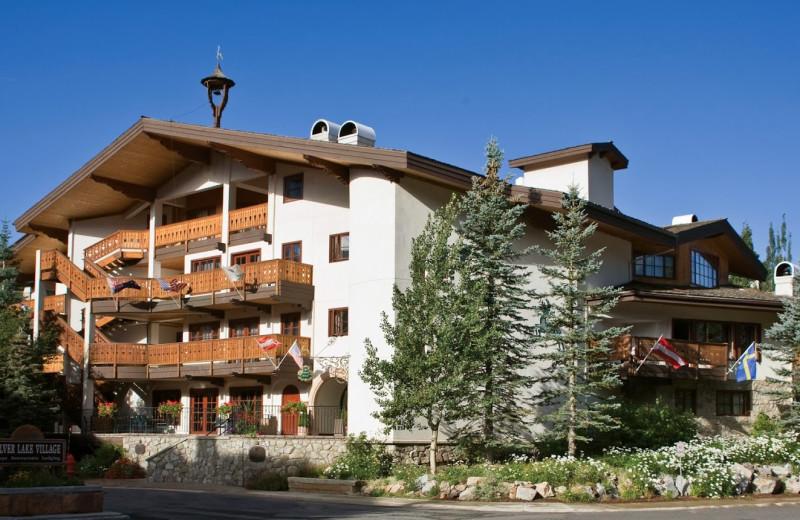 Exterior view of Goldener Hirsch Inn.