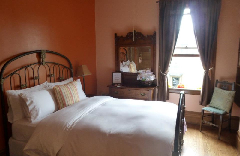 Guest room at San Benito House.