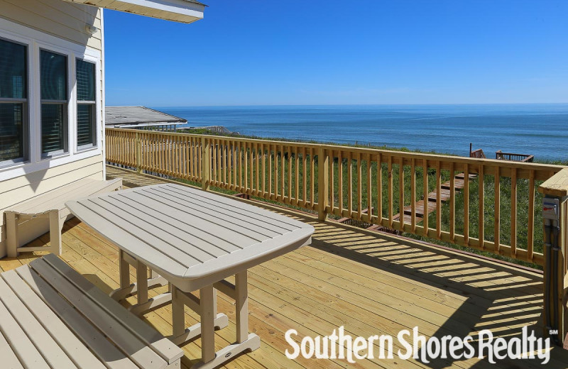 Rental deck at Southern Shores Realty.