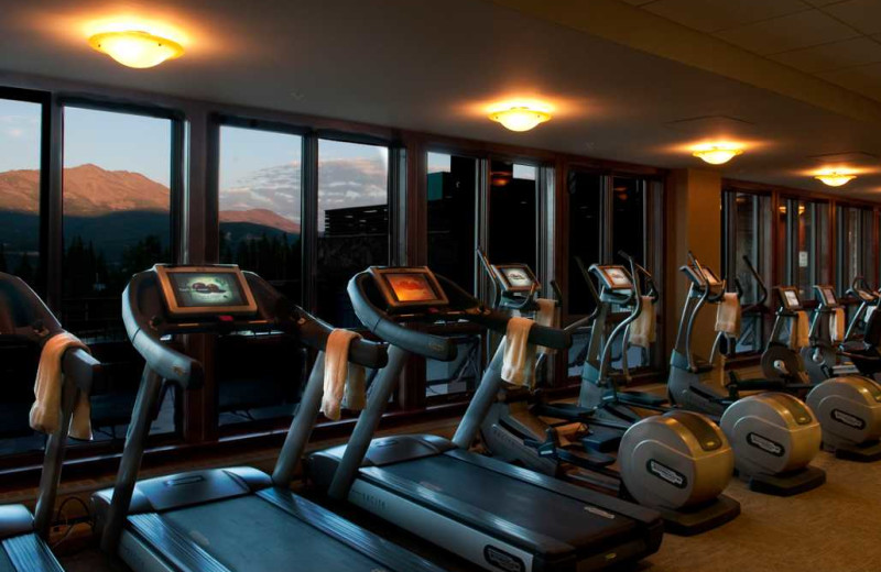 Fitness room at Grand Lodge on Peak 7.