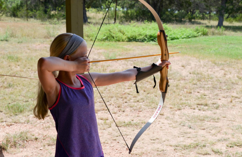 Archery at Camp Balcones Spring.