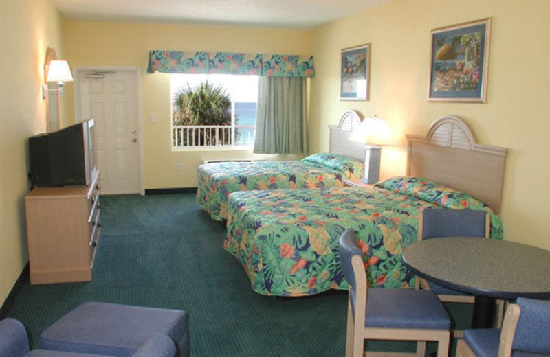 Guest room at Palmetto Inn & suites.