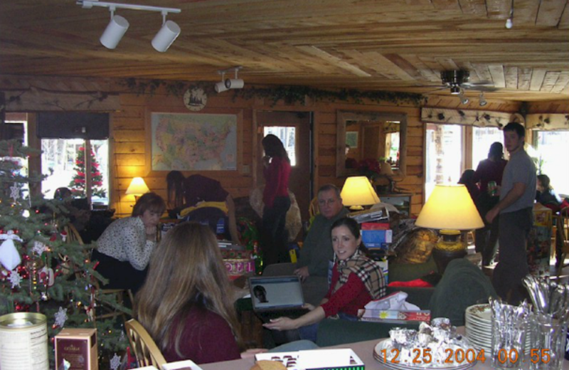 Group gathering at Bristlecone Lodge.