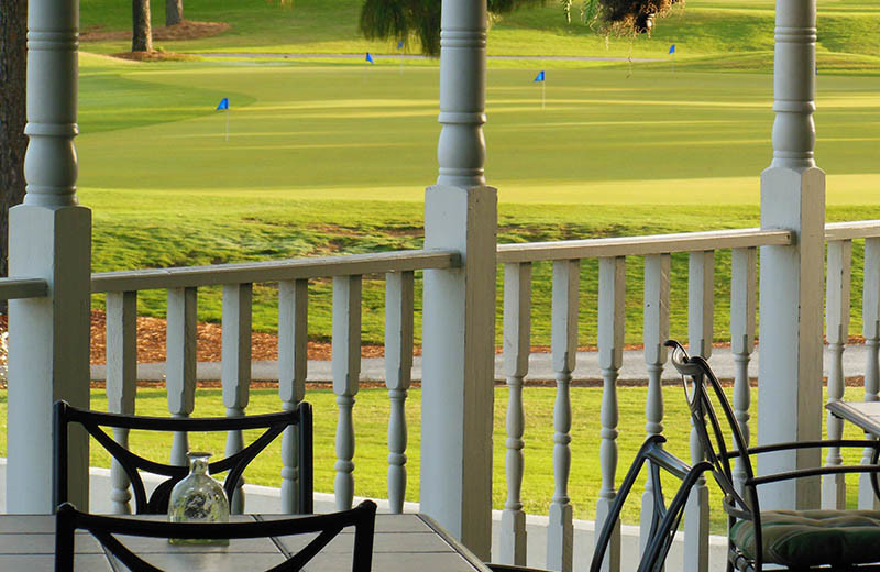 Porch view at Beau Rivage Golf and Resort.