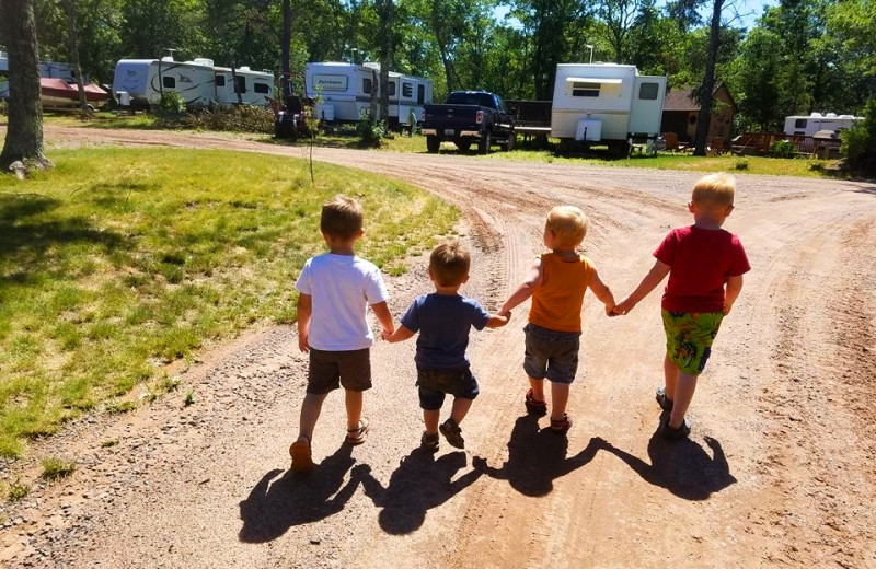 Kids at RV park at Schatzi's 4 Seasons Resort.