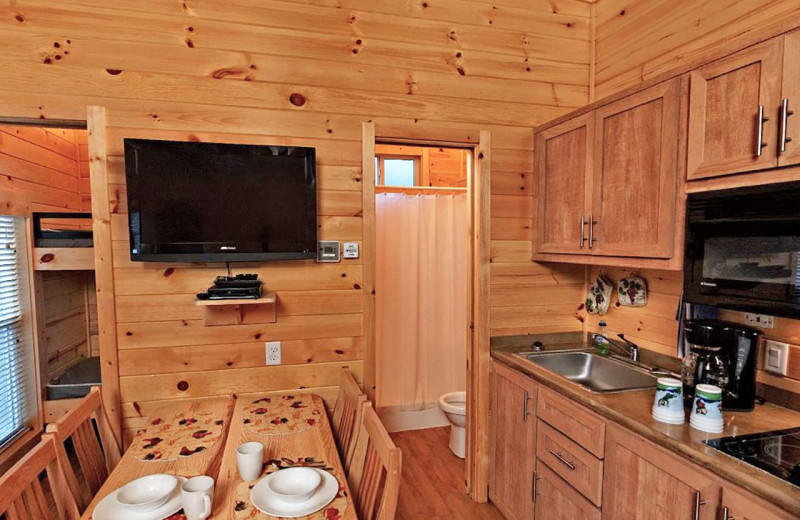 Cottage kitchen at Yogi Bear's Jellystone Park™ in Luray, VA.