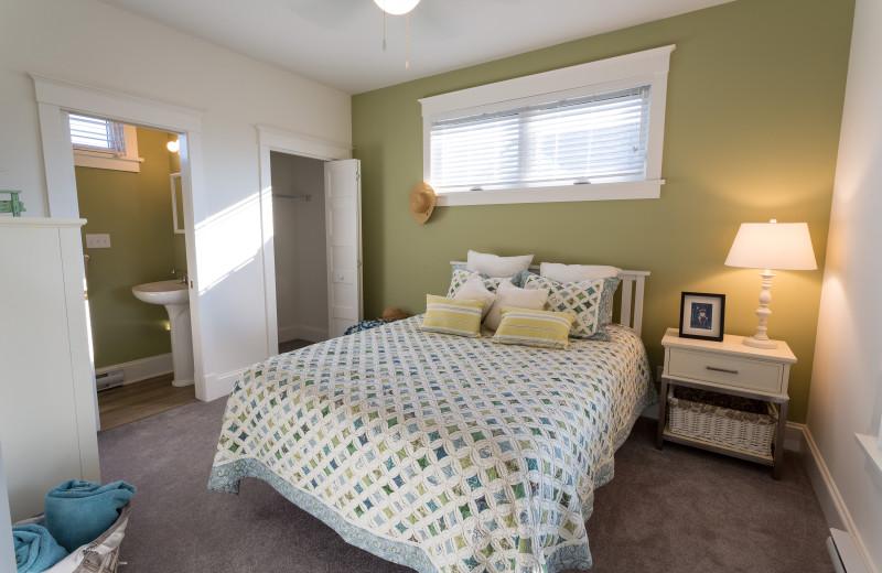 Cottage bedroom at Sandbanks Summer Village Cottage Resort.