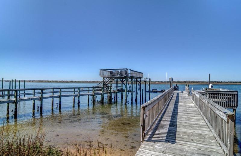 Rental dock at Topsail Realty.