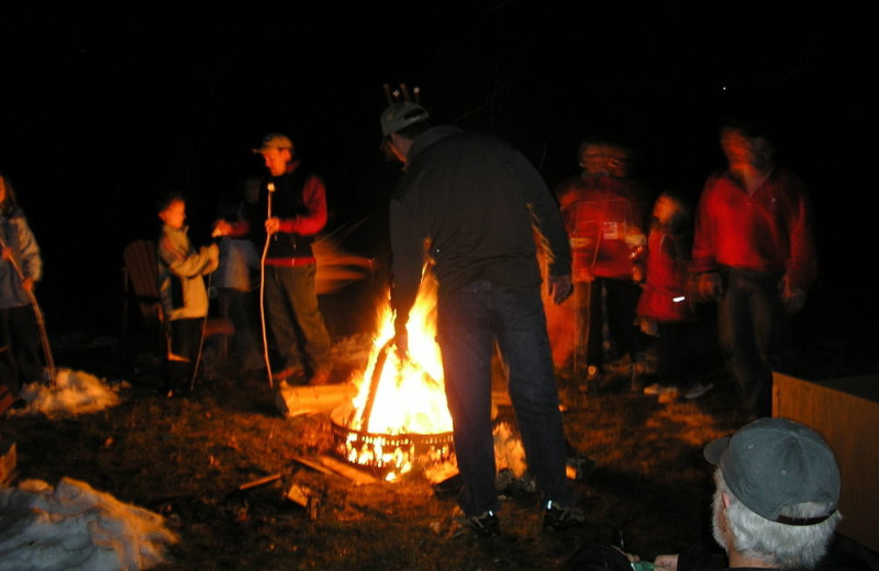 Bonfire at The Inn at Whiteface.