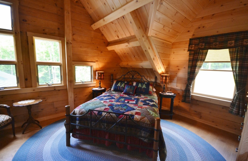 Vacation rental bedroom at Franconia Notch Vacations Rental & Realty.