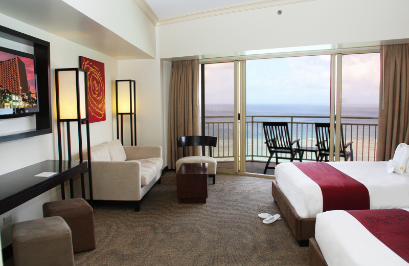 Guest room at Outrigger Guam Resort.