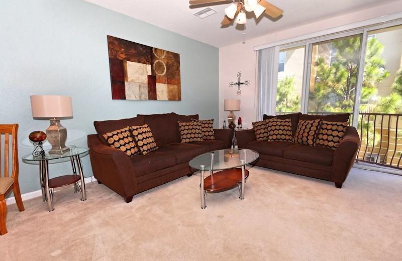 Vacation rental living room at Vista Cay Inn.