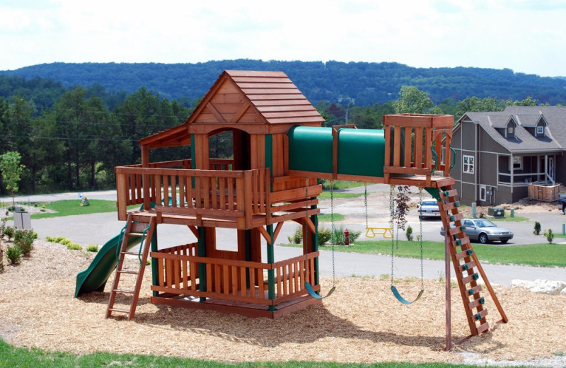 Kid's playground at Vacation Home in Branson.