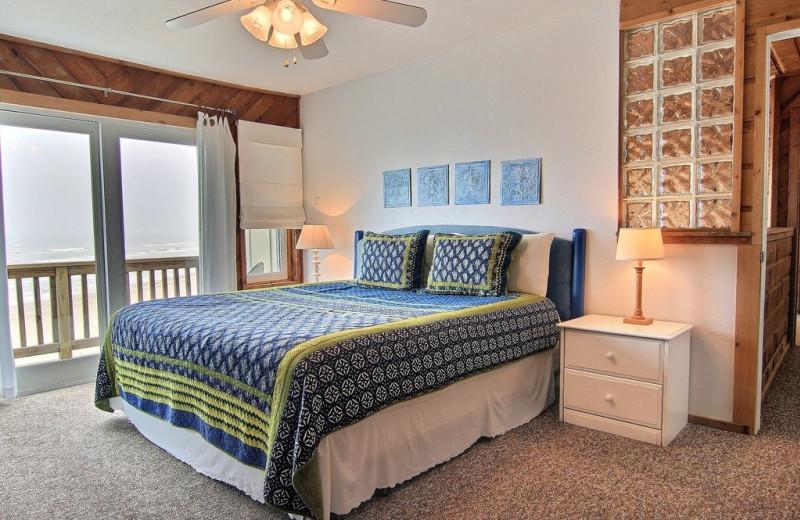 Rental bedroom at Port A Escapes.