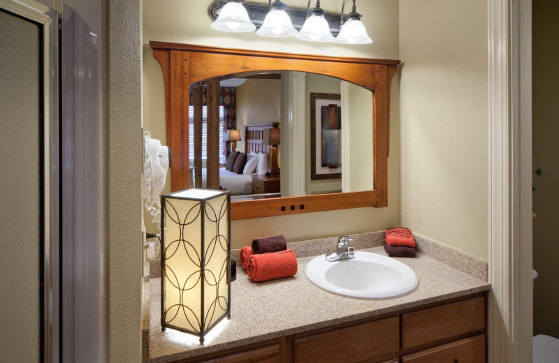 Guest sink at Holiday Inn Club Vacations Smoky Mountain Resort.