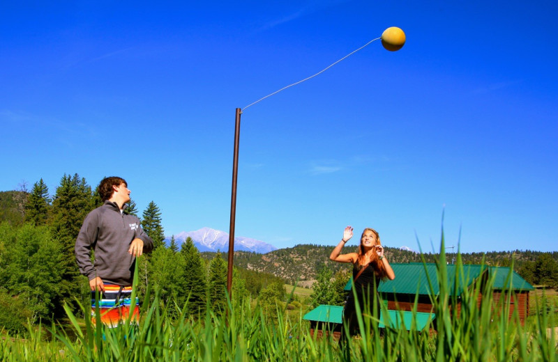 Tether ball at Elk Mountain Ranch.
