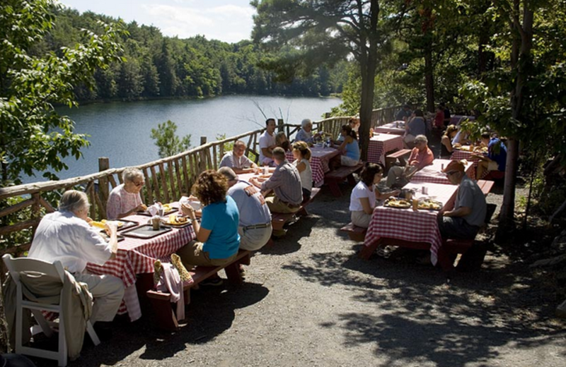 Outdoor dining at Mohonk Mountain House.