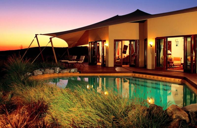 Exterior view of Al Maha Desert Resort.