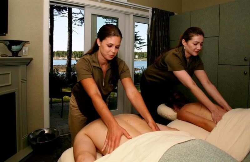 Couple's massage at Sebasco Harbor Resort.