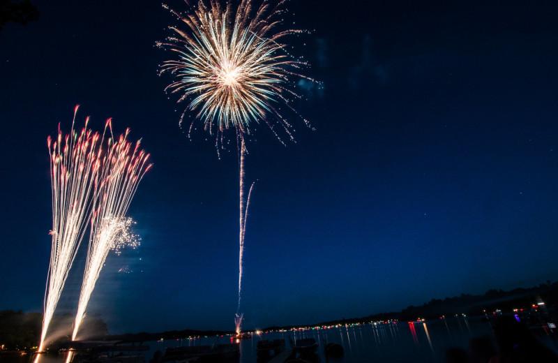 Fireworks at Ruttger's Bay Lake Lodge.
