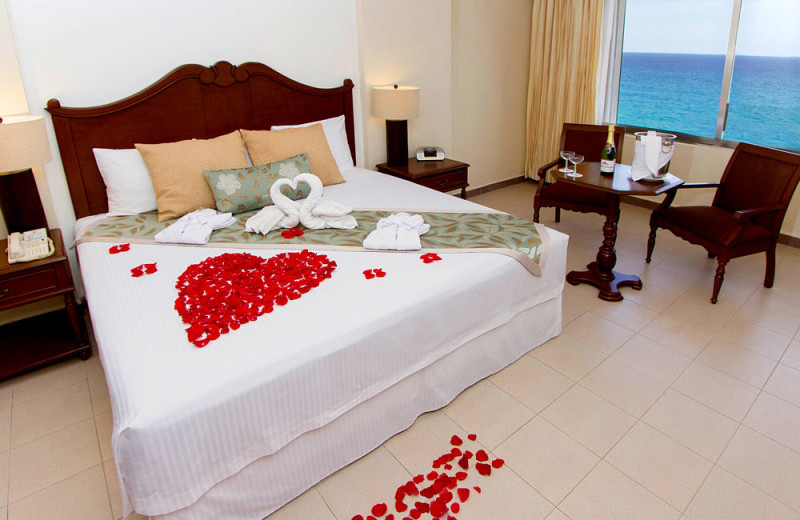 Guest room at Royal Solaris Cancun Resort Marina and Spa.