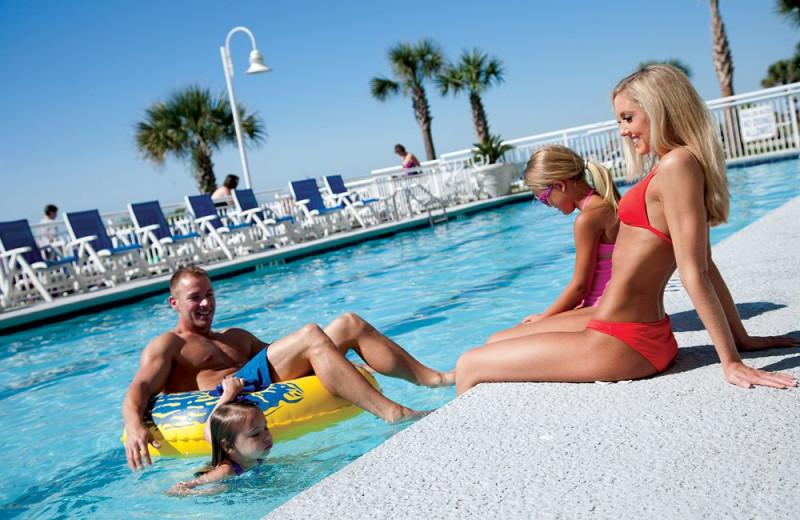 Outdoor pool at Paradise Resort.