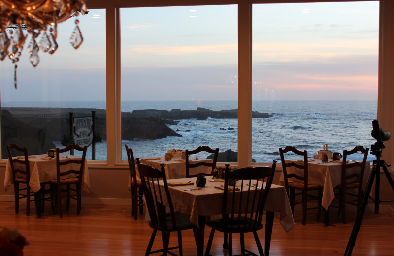 Dining at Agate Cove Inn.